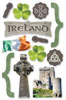 Paper House 3D Sticker: Ireland