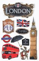 Paper House 3D Sticker: London