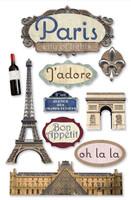 Paper House 3D Sticker: Paris