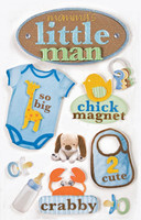 Paper House 3D Sticker: Little Man
