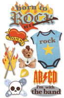 Paper House 3D Sticker: Born To Rock