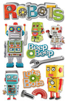 Paper House 3D Sticker: Robots