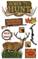 Paper House 3D Sticker: Born To Hunt