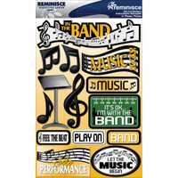 Reminisce Signature Series Dimensional Sticker: Band