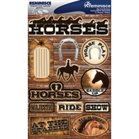 Reminisce Signature Series Dimensional Sticker: Horses