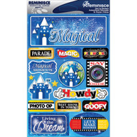 Reminisce Signature Series Dimensional Sticker: Magical