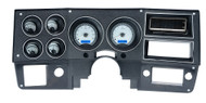 Dakota Digital 73 - 87 Chevy GMC Pickup Truck Analog Dash Gauges VHX-73C-PU-S-B (silver alloy style/blue backlighting). Bezel is not included.