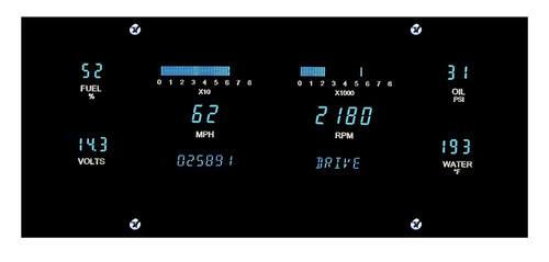 "Dakota Digital Dash Universal 6 Gauge Cluster System for 3""x10"" opening VFD3-1010"