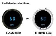 Dakota Digital Solarix Series Universal Round Mini Speedometer Gauge SLX-01-3
