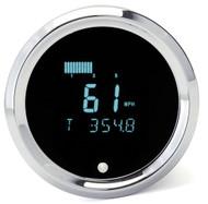 Dakota Digital Universal Round Performance Speedometer Gauge Teal ODYR-01-1