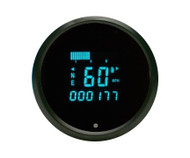 Dakota Digital Universal Round Performance Speed Tach Combo Gauge Teal ODYR-01-6
