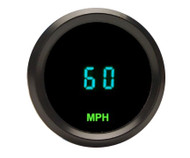 "Dakota Digital Universal Round 2-1/16"" Mini Speedometer Gauge Teal ODYR-01-3"
