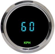 Dakota Digital Universal Round Mini Speedometer Gauge Teal Display ODYR-01-4 KPH
