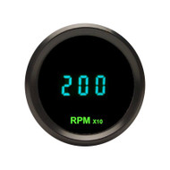 Dakota Digital Round Teal Mini Tachometer Gauge 0-18,000 RPM ODYR-02-7