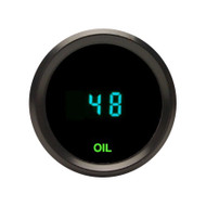 "Dakota Digital Universal 2-1/16"" Round Oil Pressure Gauge Teal Display ODYR-03-1"