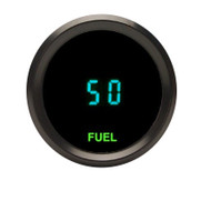 Dakota Digital Universal Round Fuel Level Gauge 0-99% Teal Display ODYR-06-1