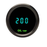 Dakota Digital Universal Round Oil Temperature Gauge Teal Display ODYR-07-3