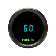 Dakota Digital Round High Resolution Fuel Pressure Gauge Teal Display ODYR-10-2