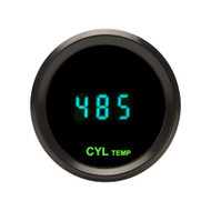 Dakota Digital Round Cylinder Head Temperature Gauge Teal Display ODYR-11-1