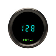 Dakota Digital Round EGT Exhaust Gas Temperature Gauge Teal Display ODYR-12-1