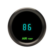 Dakota Digital Round Outside Ambient AIr Temperature Gauge Blue ODYR-14-1