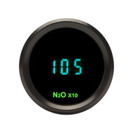 Dakota Digital Round N2O Nitrous Pressure Gauge 0-2000psi Teal Display ODYR-23-1