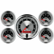 Auto Meter American Muscle 5 Gauge Kit Elec. Speedo & Elec. Oil Pressure, Water Temp, Volt, and Fuel Level - 1202