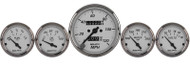 Auto Meter American Platinum 5 Gauge Kit Mech. Speedo & Elec. Oil Pressure, Water Temp, Volt, and Fuel Level - 1901