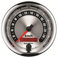 """Auto Meter American Muscle Universal 3-3/8"""" Speedometer Gauge, 0-260 KPH Metric - 1288-M"""