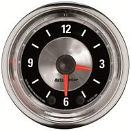 "Auto Meter American Muscle Universal 2-1/16"" Clock Gauge, 12 Hour - 1284"