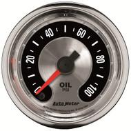 """Auto Meter American Muscle Universal 2-1/16"""" Oil Pressure Gauge - 1253"""