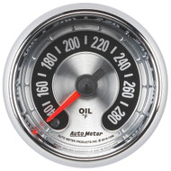 "Auto Meter American Muscle Universal 2-1/16"" Oil Temperature Gauge 140-280 °F - 1256"