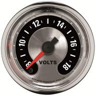 """Auto Meter American Muscle Universal 2-1/16"""" Voltmeter 8-18V Gauge - 1282"""