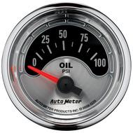 """Auto Meter American Muscle Universal 2-1/16"""" Oil Pressure Gauge 0-100 psi - 1226"""