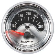 "Auto Meter American Muscle Universal 2-1/16"" Oil Temperature Gauge 140-300 °F - 1248"