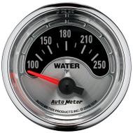 "Auto Meter American Muscle Universal 2-1/16"" Water Temperature Gauge 100-250 °F - 1236"