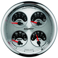 "Auto Meter American Muscle Universal 5"" Quad Gauge - 1225"