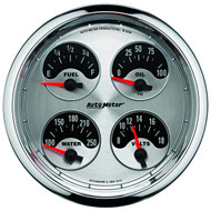 "Auto Meter American Muscle Universal 5"" Quad Gauge - 1212"