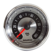 "Auto Meter American Muscle Universal 2-1/16"" OIL PRESSURE, 0-100 PSI - 1219"