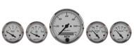 "Auto Meter American Platinum 5 piece Gauge Kit 3-1/8"" & 2-1/16"", Elec. Speedometer - 1902"