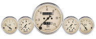 "Auto Meter Antique Beige 5 pc Mechanical Gauge Kit  3-1/8"" & 2-1/16"" - 1811"