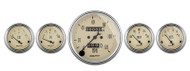 "Auto Meter Antique Beige 5 pc Gauge Kit  3-1/8"" & 2-1/16"" Mechanical Speedometer - 1808"