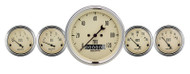 "Auto Meter Antique Beige 5 pc Gauge Kit  3-1/8"" & 2-1/16"" Elec. Speedometer - 1840"