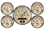 "Auto Meter Antique Beige 5 pc Gauge Kit  3-1/8"" & 2-1/16"" GPS Speedometer - 1850"