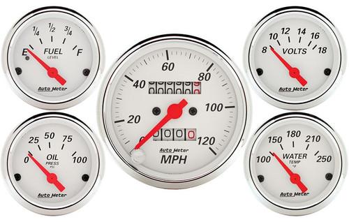 Arctic White 5 pc kit Mech Speedometer 1300