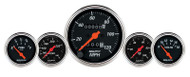 Designer Black 5 Gauge Kit, Mechanical Speedometer, 1411