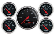 Designer Black 5 pc Gauge Kit, GPS Speedometer 1450