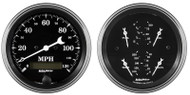Autometer Old Tyme Black 2 pc gauge kit