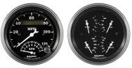 Auto Meter Old Tyme Black 2 pc gauge kit 1720