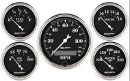 Auto Meter Old Tyme Black 5 Gauge Kit 1709